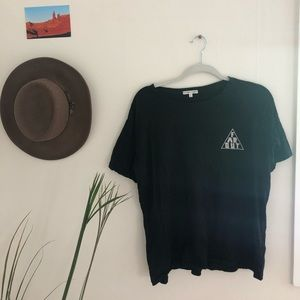 """Urban Outfitters black """"Far Out"""" Tee"""